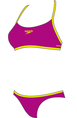 Plavky Speedo Crop Top Cross Back 32